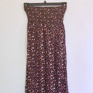 Boho Hippie Long Multicolored Floral Maxi Skirt